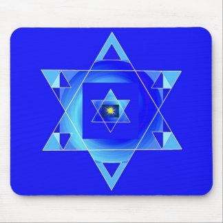 Blueish illusion. mouse pad