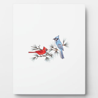 BLUEJAY AND CARDINAL PHOTO PLAQUES