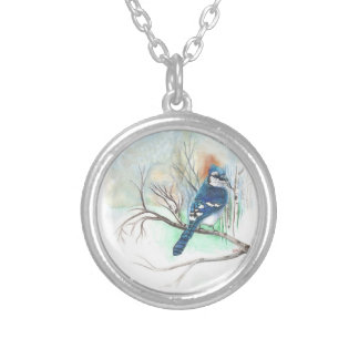 Bluejay Charm Necklace