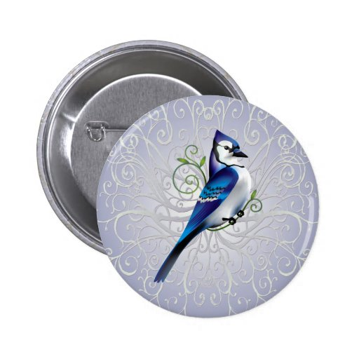 Bluejay Day 2 Inch Round Button