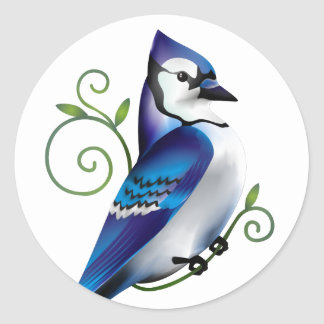 Bluejay Day Classic Round Sticker