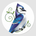 Bluejay Day Round Stickers