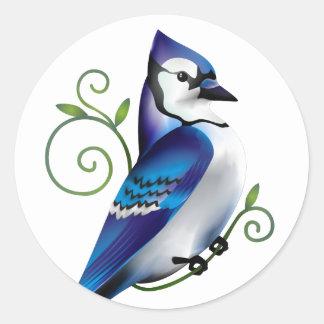 Bluejay Day Round Stickers