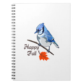 Bluejay Happy Fall Spiral Notebook