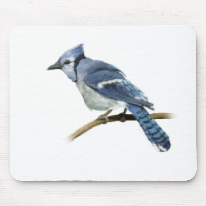Bluejay Illustration Mouse Pad