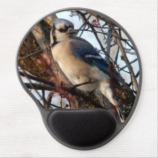 Bluejay in a tree gel mousepad