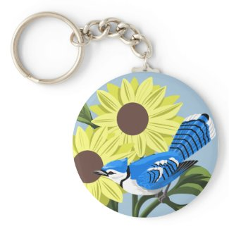 Bluejay Key Chains keychain