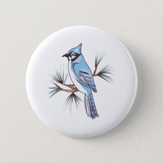 BLUEJAY PINBACK BUTTON