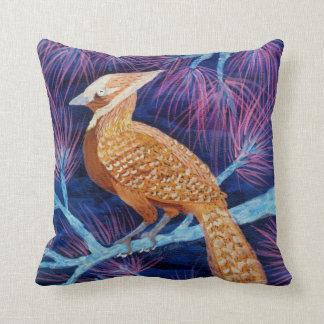 Bluejay turned Thrush by Wendy C Allen Throw Pillows