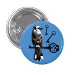 Bluejay w/ Keys 1 Inch Round Button