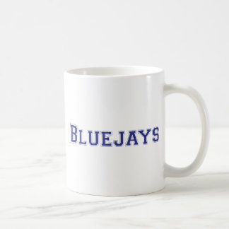 Bluejays square logo in blue coffee mug