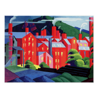 Bluemner - Jersey Silk Mills Poster