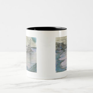 BlueMoon Coastline Two-Tone Coffee Mug
