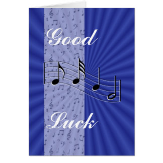 BlueMusicnote strip-customize any occasion Greeting Cards