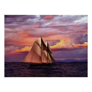 Bluenose at sunset I Posters