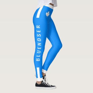 Bluenoser Canadian Maple on Blue Leggings