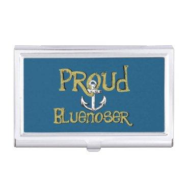 Professional Business Bluenoser Nova Scotia anchor business card holder