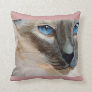 BluePointSiamese Square Throw Pillow (RParker4)