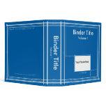 Blueprint 3 Ring Binder by David M. Bandler