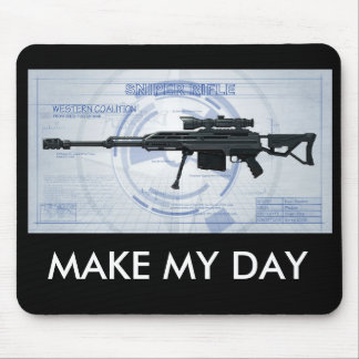 Blueprint 50 cal sniper MAKE MY DAY Mouse Pad