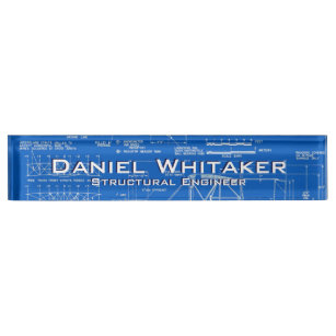 Blueprint gifts on zazzle blueprint background desk name plate malvernweather Choice Image