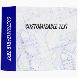 Personalize your own blueprint binder stay organized today zazzle blueprint binder malvernweather Gallery