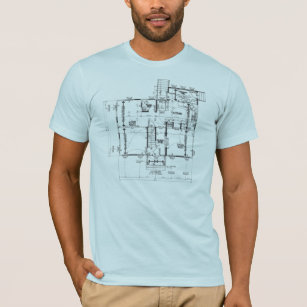 Blueprint designs clothing apparel zazzle blueprint blue semi fitted mens tshirt malvernweather Choice Image