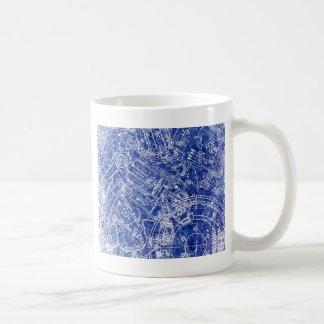 Blueprint design coffee travel mugs zazzle blueprint coffee mug malvernweather Gallery