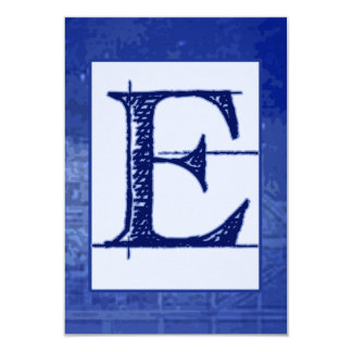 "Blueprint ""E"" Wedding RSVP Card"
