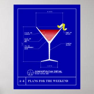Blueprint for a Cosmopolitan Poster
