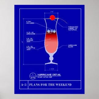Blueprint for a Hurricane Poster