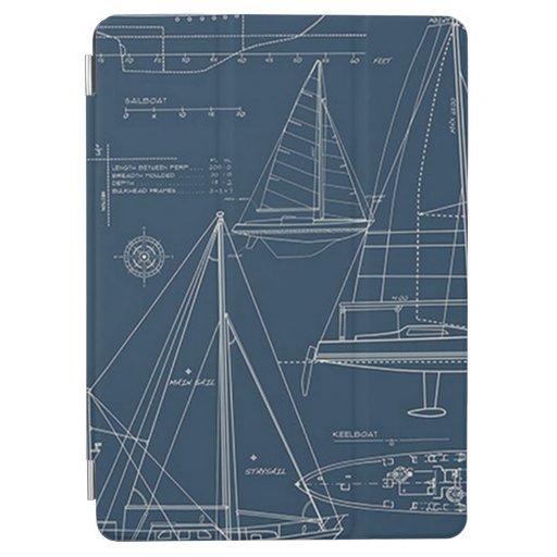 Blueprint For Sailing iPad Air Cover