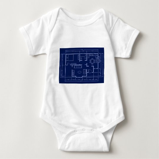 blueprint - house plan baby bodysuit