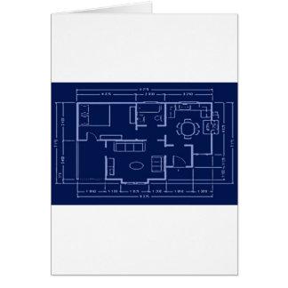 blueprint - house plan greeting card