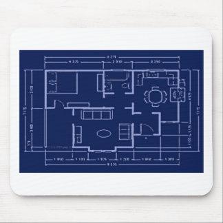 blueprint - house plan mouse pads