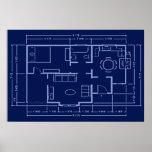 blueprint - house plan poster