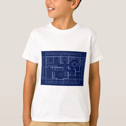 blueprint - house plan T-Shirt