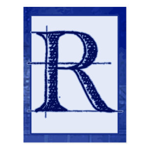 Blueprint postcards zazzle blueprint letter r typography banner card malvernweather Gallery