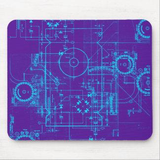 Blueprint Mousmat Mouse Pad