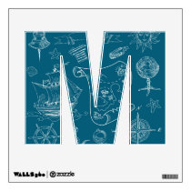 Blueprint Nautical Graphic Pattern Wall Decal