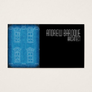 Blueprint of architectural building business card