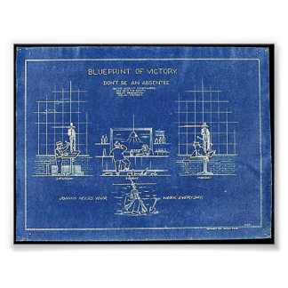 Blueprint Of Victory, Don't Be An Absentee Poster