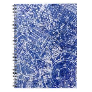 Blueprint Spiral Notebook