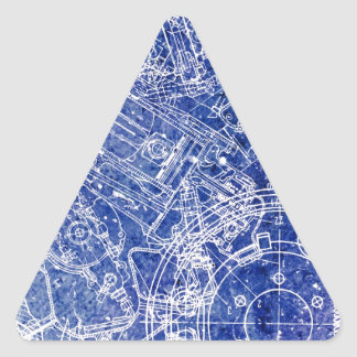 Blueprint Triangle Sticker