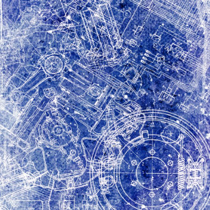 Blueprint wrapping paper zazzle blueprint wrapping paper malvernweather Image collections