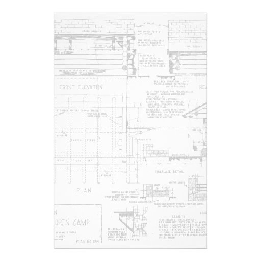 Blueprints for Lean To Custom Stationery