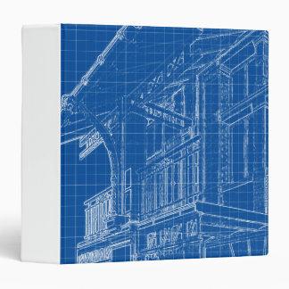 Blueprints of a VIntage House 3 Ring Binder