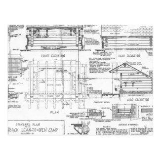 Blueprints Postcard