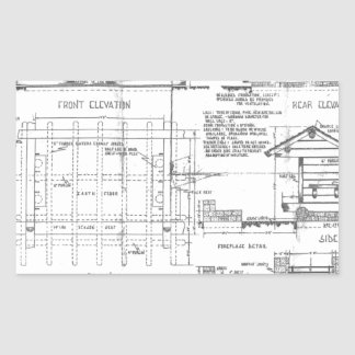 Blueprints Rectangular Sticker