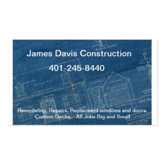 blueprints-stacked, James Davis Construction, 4... Double-Sided Standard Business Cards (Pack Of 100)